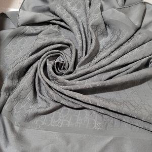 Christian Dior Jacquard Monogram Silk Scarf